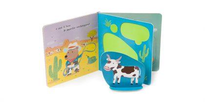 Libro per bambini con mucca